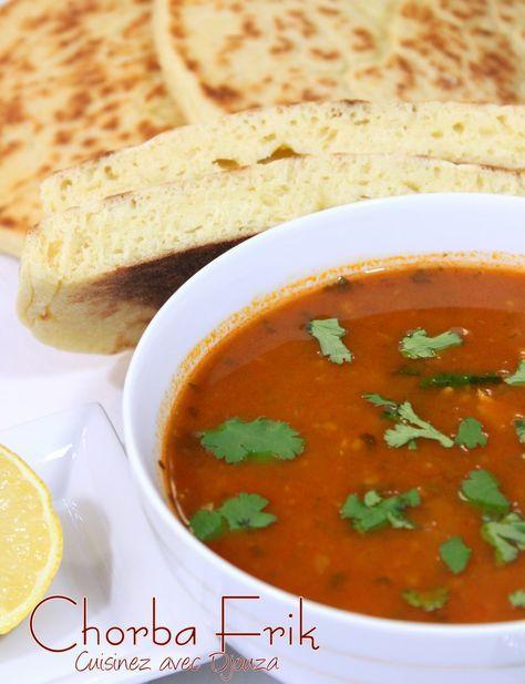 Chorba frik soupe traditionnelle algérienne au blé concassé, recette de ramadan