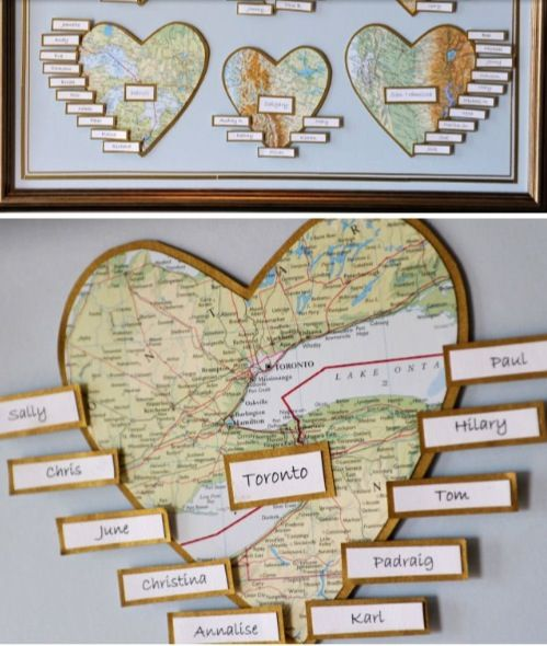 Map wedding table plan. Can adapt this for any theme!