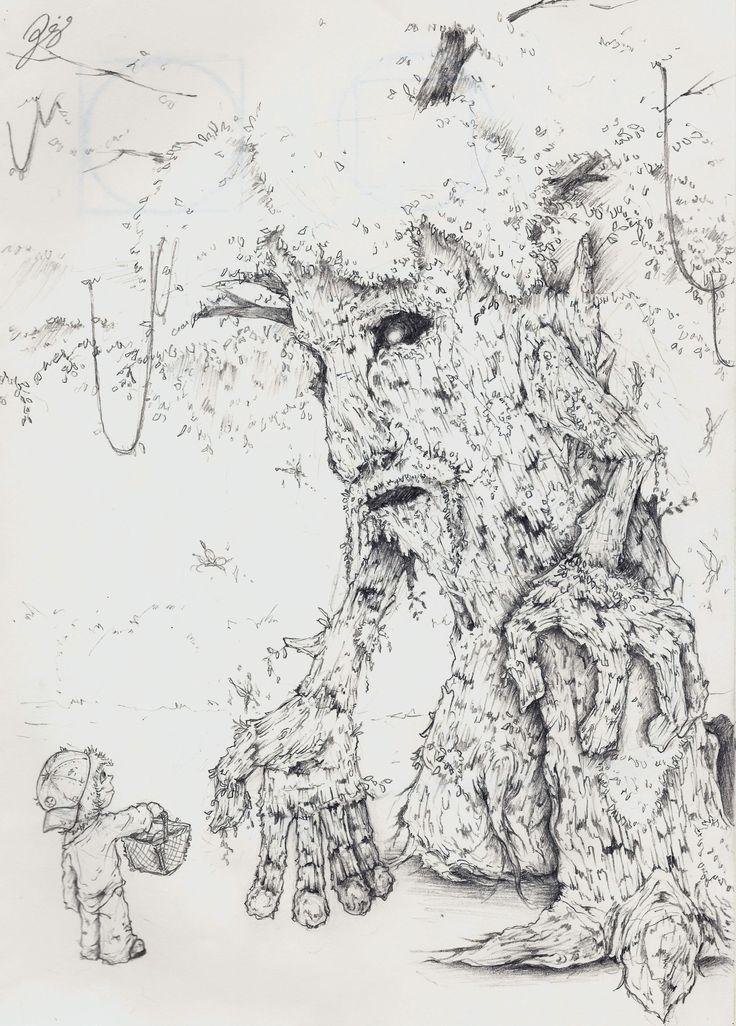 2011 #draw #drawing #art #illustration #picture #tree #boy #friendship
