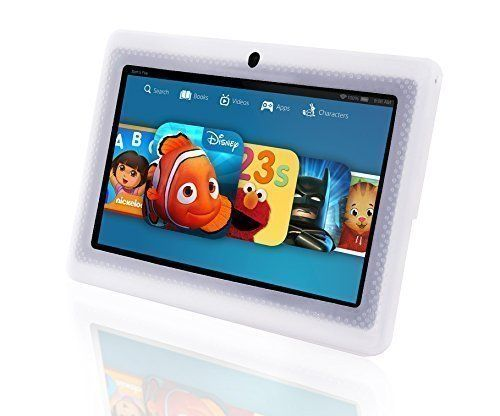 LillyPad Junior Kids Android Tablet 2.0 Faster Smoother Performance and Premium Features - Android KitKat 4.4 HD Screen 8GB Storage 1GB Ram Bluetooth 4.0 - Rainbow - Updated June 2016