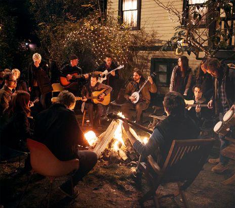 I love this scene around the campfire!