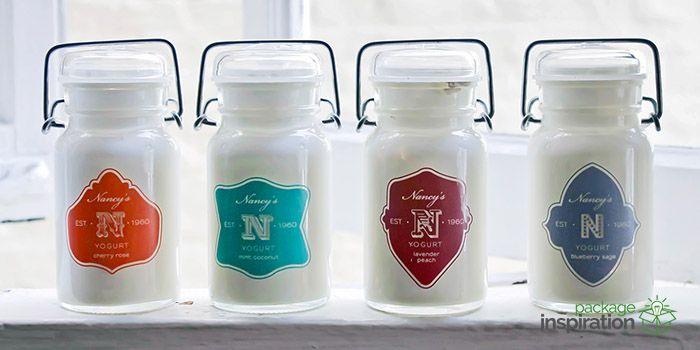 Nancy's Boutique Yogurt Packaging Design. Designed by: Amanda Day, USA.
