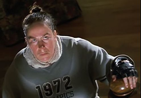 When Miss Trunchbull is chasing after Matilda and Miss Honey in Matilda. | 21 Moments From Kids Movies That Sorta Messed You Up For Life