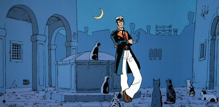 Un gatto è un gentiluomo: elegante nell'atteggiamento, dalle maniere squisite e con una passione per i combattimenti corpo a corpo, sfrenate storie d'amore, duelli al chiar di luna e canti di gioia. Pam Brown. https://www.facebook.com/pages/Corto-Maltese/183002165056863