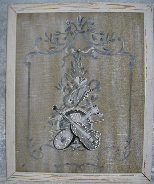 Peinture sur du lin le tissus t l g rement peint en for Peinture lin naturel