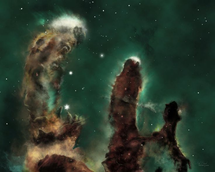 """Pillars of Creation"" is a photograph taken by the Hubble ..."