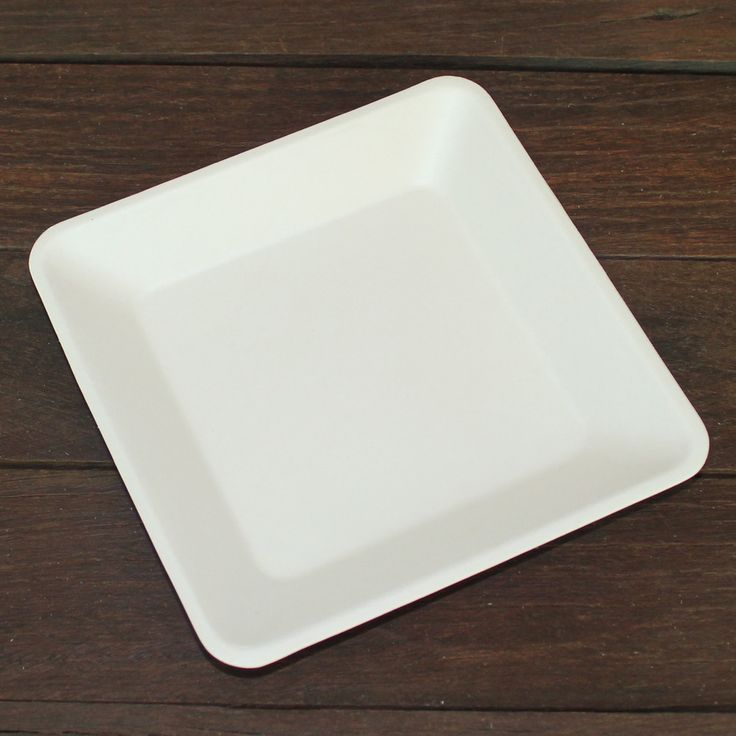 Image of 155mm White Sugarcane Square Plates (small)
