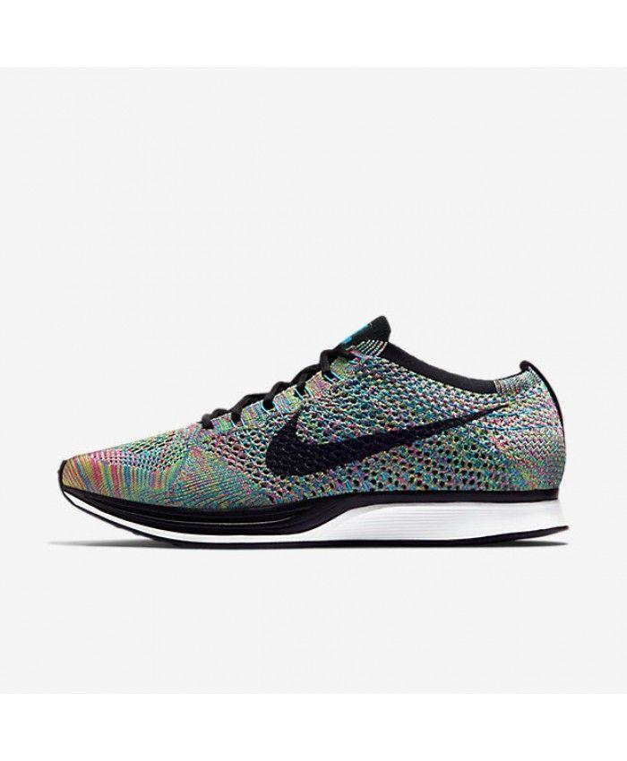 Nike Flyknit Racer Green Strike/Blue Lagoon/Pink Pow/Black Unisex Shoe