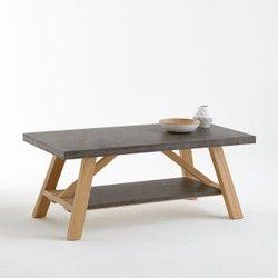 Table basse, plateaux effet béton, Concrite La Redoute Interieurs - Table basse