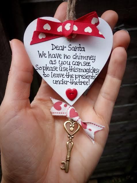 Santa Key Father Christmas Novelty gift- Personalised Handmade