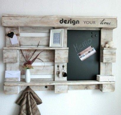 m bel aus paletten flur garderobe holz diy ideen selber. Black Bedroom Furniture Sets. Home Design Ideas