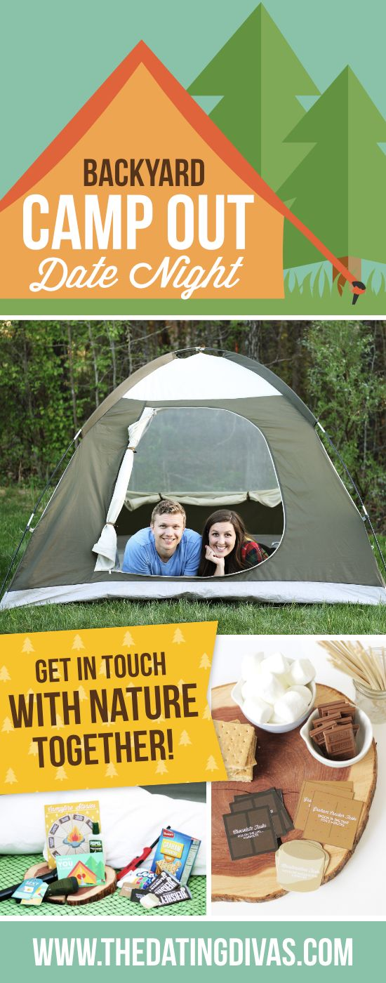 Oh fun, set up a tent right in your backyard or living room for a backyard camping date! You get a taste of the outdoors, but you're still close to home!