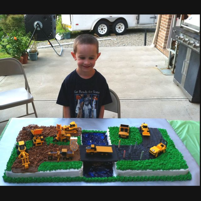 The construction cake I made for my 5 year old
