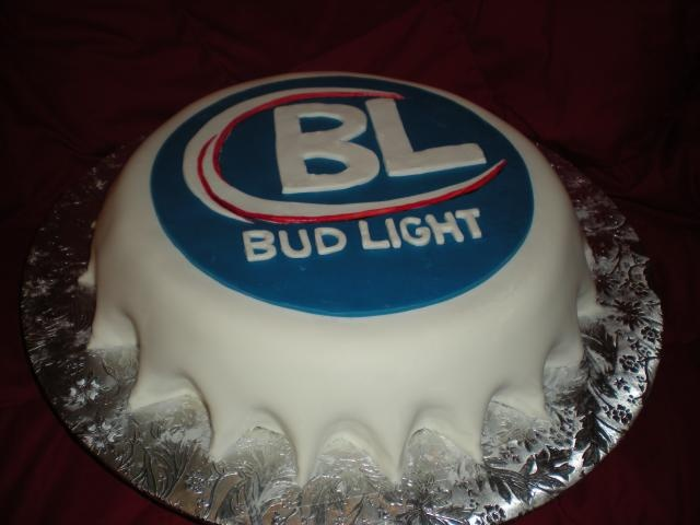 bud light cake..this is my kind of cake!!