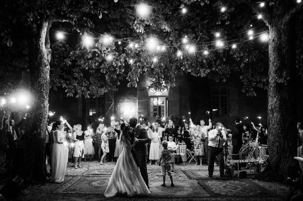 We're obsessed with this Persian rug covered dance floor | Photo by WhiteSmoke Studio via http://junebugweddings.com/wedding-blog/relaxed-french-wedding-chateau-lartigolle/