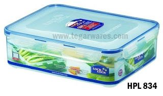 Lock & Lock Lunchbox Series type: HPL 834: Size 295 x 230 x 84mm capacity 3.9 L