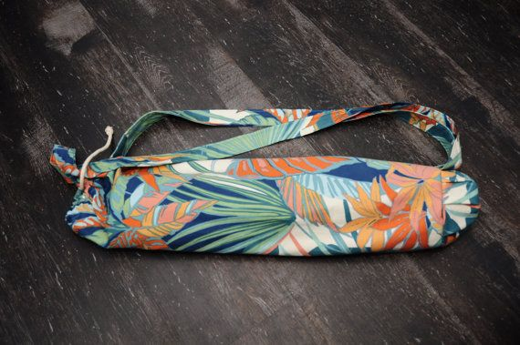 HAWAII yoga mat bag flower plage PILATES eco-friendly by lapayoga