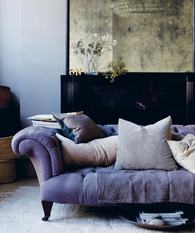 Dusky living room styling