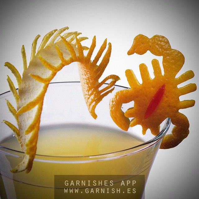 Scorpio. Animals set #1 #bar #bars #bartenders #bartender #drink #garnish #iba #cocktail #cocktails #fruitcarving #foodcarving #carving #handmade #drinks  #everivyclothing #food #drink #cocktail #alcohol #beverage #tgif#slurp #yum #yummy #thirst #thirsty #instagood #cocktail  #drinkup #glass  #photooftheday