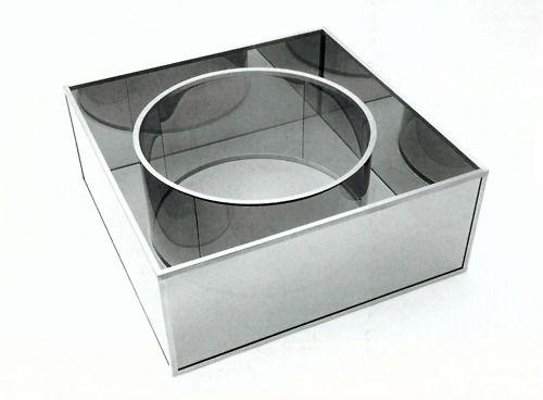 Dan Graham, Cylinder Inside Cube, 1986