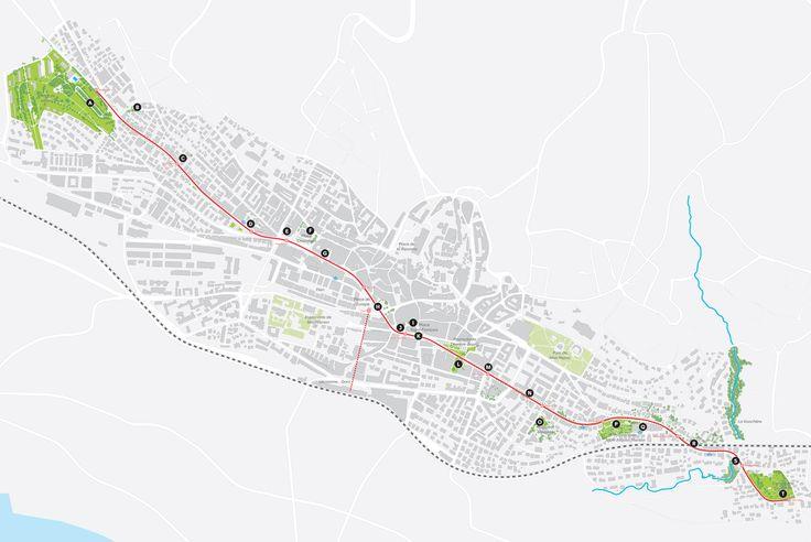 Pour cette sixième édition le parcours de LJ 2019 nemprunte un des axes forts de la ville. Avec une vingtaine de sites repartis sur 4 km, il traverse la ville d'ouest en est, le long de la ligne de bus n°9, de Prilly à Pully. De la pleine terre du parc de Valency à la pleine terre du parc Guillemin, en passant par le hors-sol du centre-ville.
