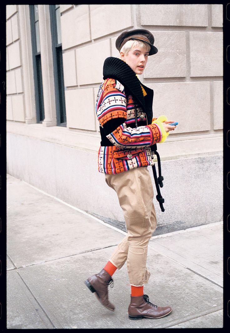 vogueaustralia: Bill Cunningham is New York's original street style guy. Image of Agyness Deyn by Bill Cunningham.