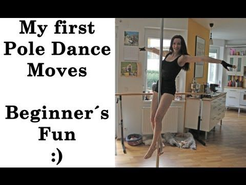 My First Pole Dance Moves - Beginners Fun by MONDBERG - YouTube
