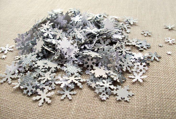 Winter Wonderland Confetti - Snowflake Table Decorations, Winter Wedding Decor. $14.00, via Etsy.