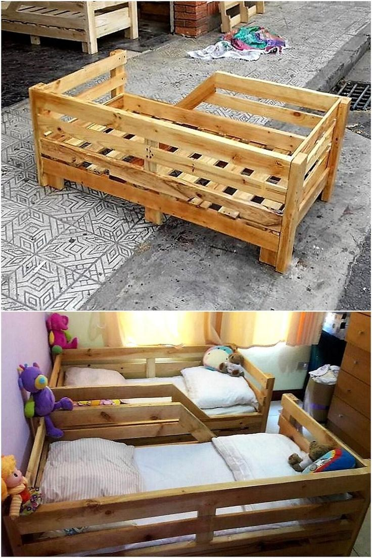 If someone is going to have a baby, then no need to worry for investing a huge amount for buying the baby bed if there are pallets present in the home because here is an idea to reshape them into a toddler bed. Save money and invest them on buying other accessories for the baby.