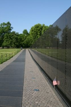 The Vietnam Veterans monuments and memorials in the National Mall, Washington, DC.
