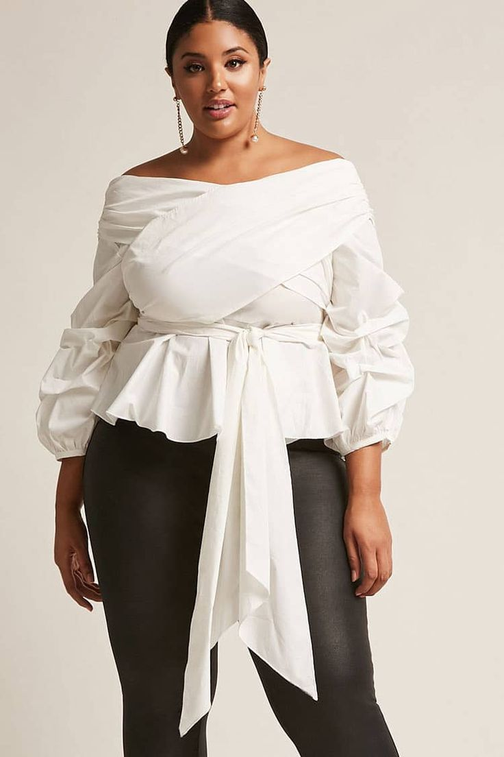 Product Name:Plus Size ETA Off-the-Shoulder Top, Category:CLEARANCE_ZERO, Price:48