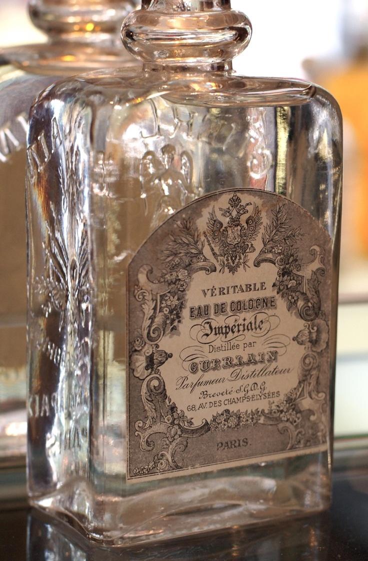 Antique bottle of Eau de Cologne Imperiale