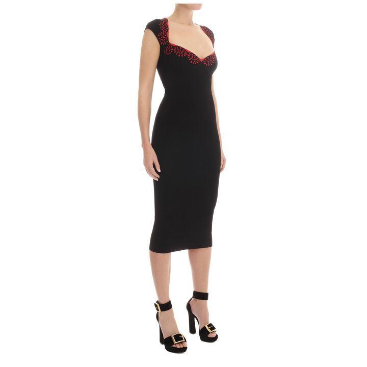 Sangallo Jacquard Pencil Dress McQueen