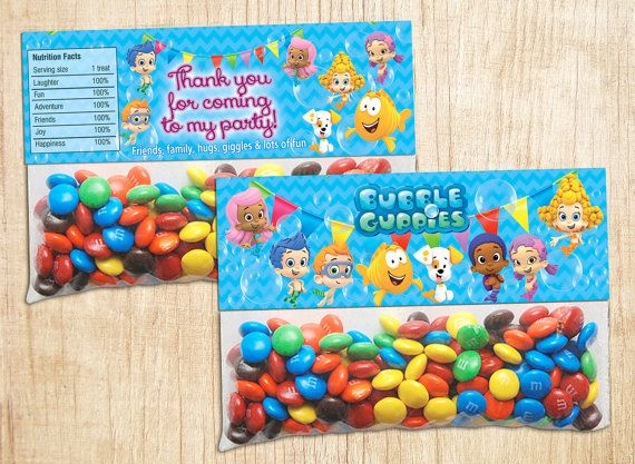 INSTANT DOWNLOAD Bubble Guppies Bag Toppers Bubble by BogdanDesign