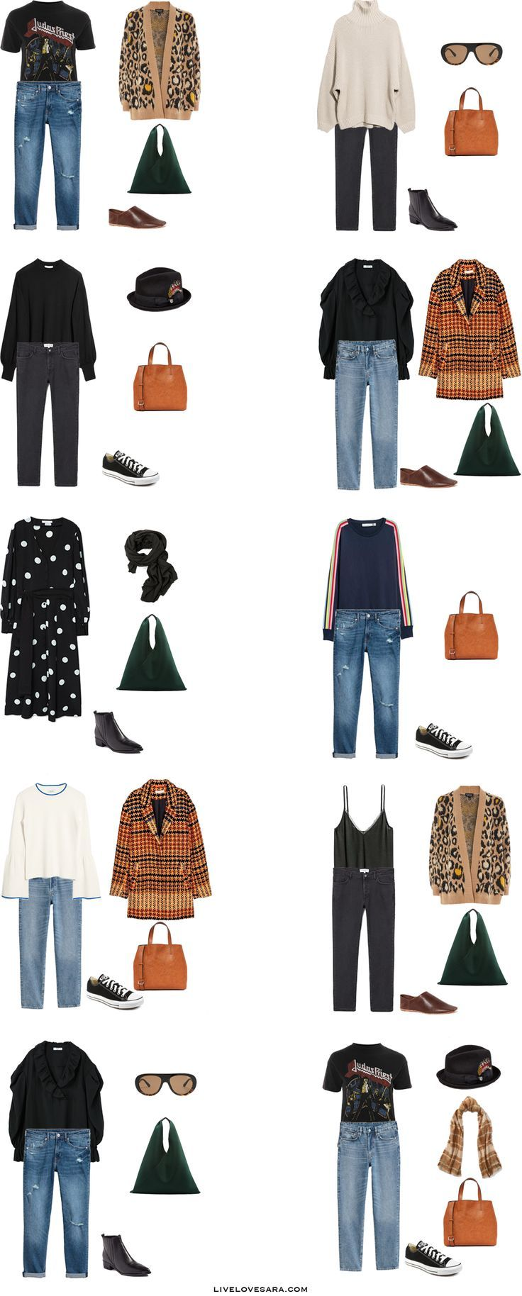What to Pack for the Tuscany to keep it light but versatile without packing your entire closet. Packing Light List Outfit Options 1-10 #travellight #packinglight #packinglist #travel #traveltips #capsule #capsulewardrobe #livelovesara