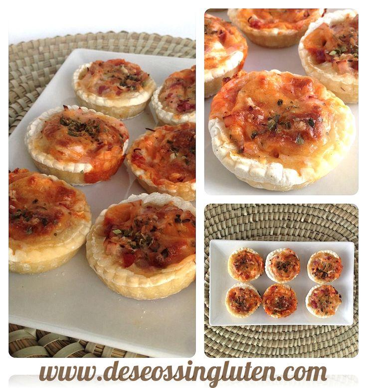 Deseos Sin Gluten: TARTALETAS MINI-PIZZAS SIN GLUTEN