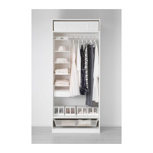 """Ikea PAX Wardrobe  $325. 39-3/8x23-5/8x93-1/8"""". NOTE: Knobs, handles and interior accessories to help organize inside wardrobe are sold separately. Article #391.277.10."""
