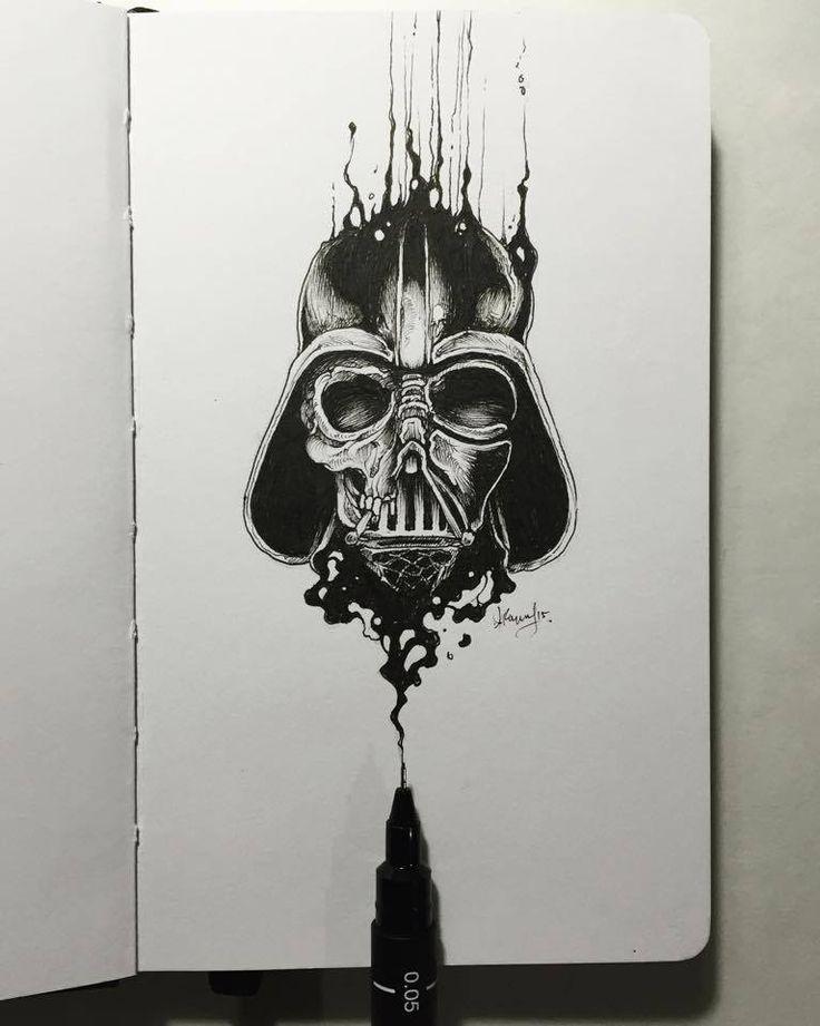 Kerby Rosanes – Sketchy stories illustration Dark vador