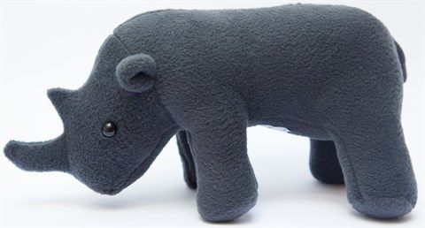 An African original soft toy. This majestic plush creature is handmade from soft felt-like fabric, with black button eyes. A perfect reminder to our children of our precious and endangered wildlife heritage. R5 of every purchase will be donated to rhino conservation. Colour: Charcoal Length (mm): 300 Width (mm): 135 Weight (g): 125 Exclusively handmade for KAMERS vol geskenke.
