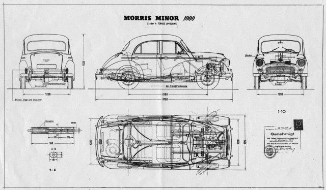 Morris Minor 1000 schematic