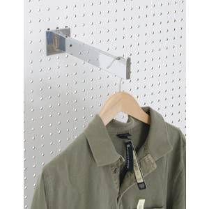 Shelf bracket for pegboard