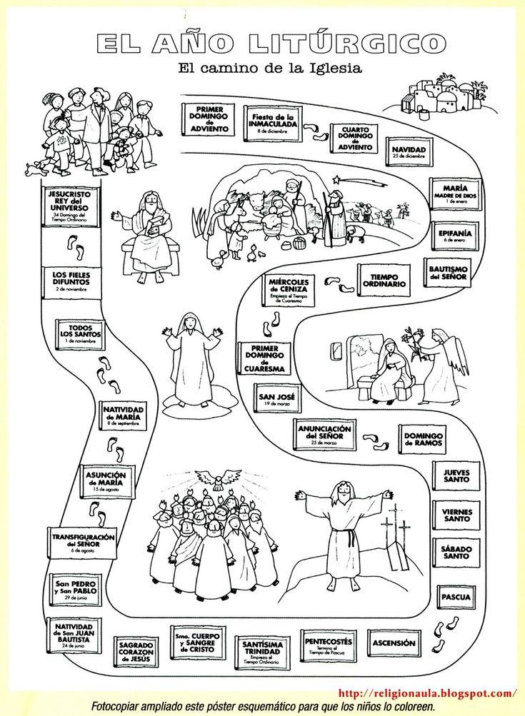 Clases de Religión Católica: El año litúrgico imagen para pintar