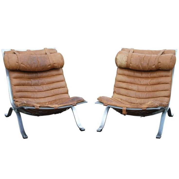 Mid Century Ari Easy Chair Pair By Arne Norell Glamping