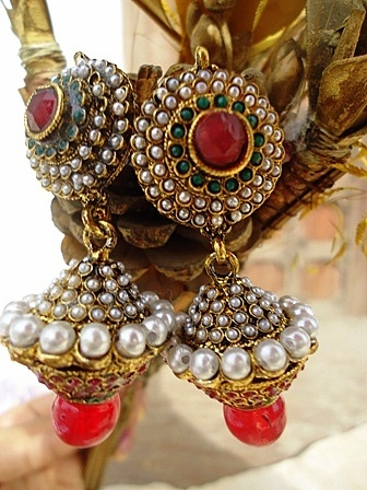 Damru style polki earring Earring