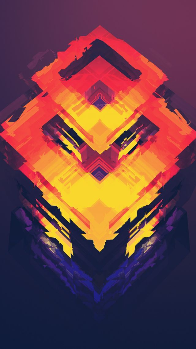 Abstract Polygon 4k 5k Iphone Wallpaper Android Wallpaper Orange Red Vertical Android Wallpaper Mkbhd Wallpapers Mobile Wallpaper