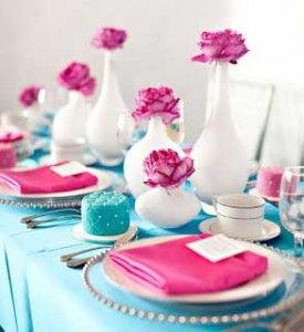 casamento azul tiffany e rosa