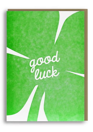 17 best Good Luck Cards images on Pinterest Typography letters