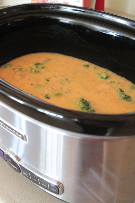 Creamy Crockpot Chicken And Broccoli Over Rice Recipe — Dishmaps