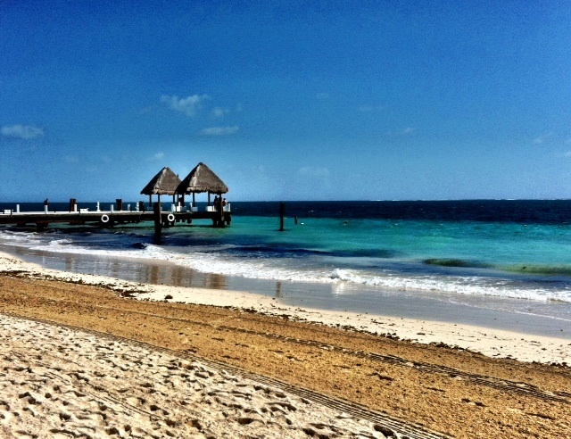 Piers Off The Private Beach Of Excellence Club In Riviera Maya