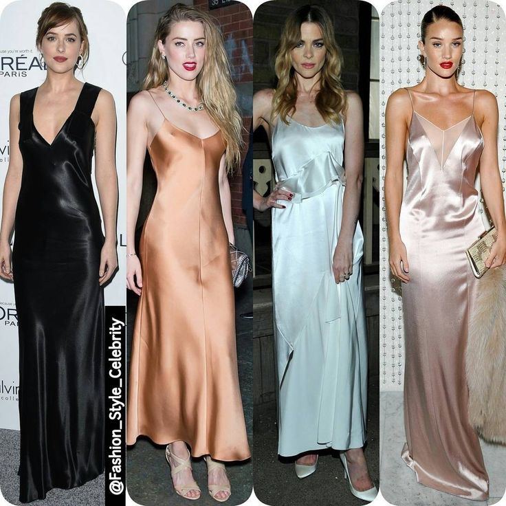 TREND ALERT- #SlipDress#WhoWoreBetter#dakotajohnson#amberheard#JamieKing#rosiehuntingtonwhiteley#chic #beautiful #socialite #heels #angel #vs #satin #hot #silk #colours #highheels #blonde #fashionblogger #lookbook #ootd #clothing #flats #rippedjeans #supermodel #beauty #makeup... - Celebrity Fashion